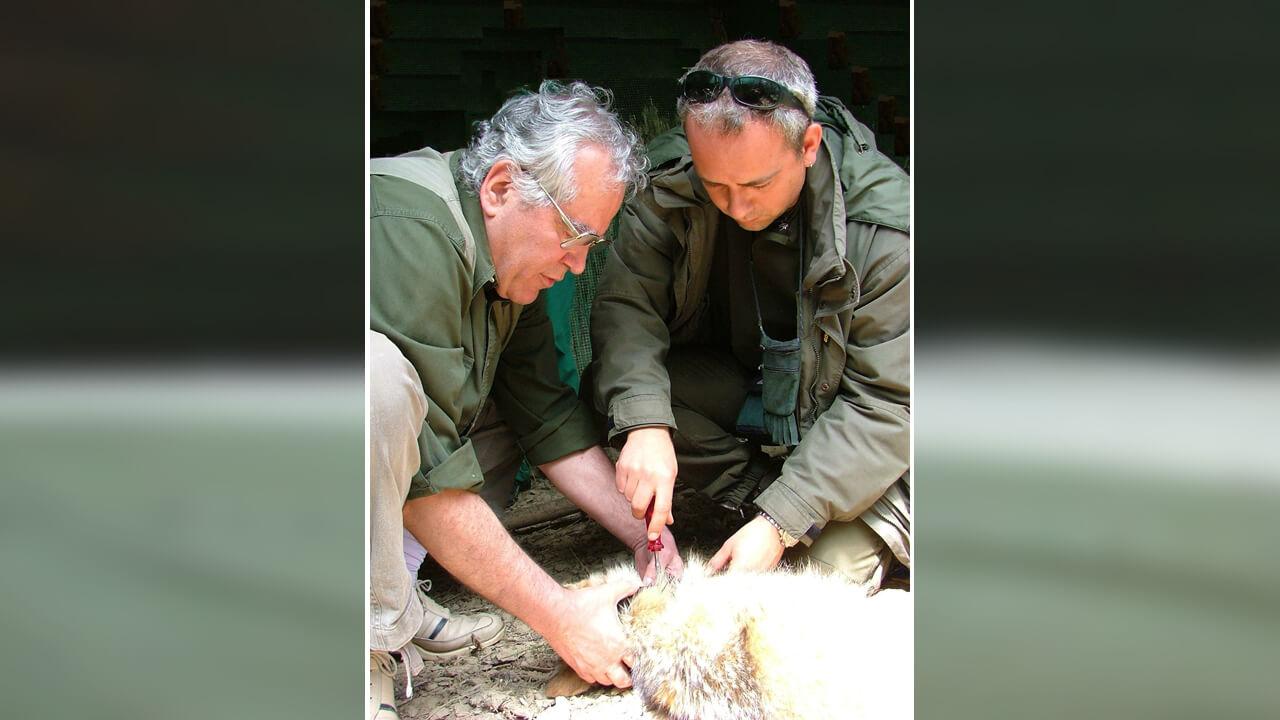 Bernardino Ragni, a sinistra, con l'allievo e collega A. Mandrici