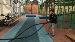 Esercizio con il Battle Ropes