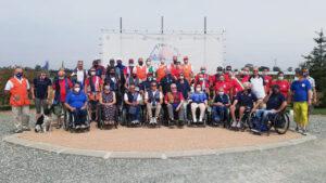 foto di gruppo tiratori paralimpici
