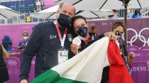 Diana Bacosi con Luciano Rossi