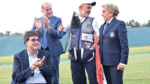 Luciano Rossi, Luca Pancalli, Emanuela Croce Bonomi e Emilio Poli